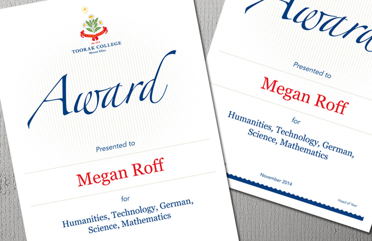 Certificates & Awards
